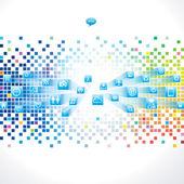 цифровой фон — Cтоковый вектор