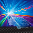 Car background — Image vectorielle