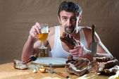 Hungry man — Stock Photo