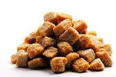 Cane brown sugar cubes — Stock Photo