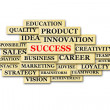 Success  tag cloud - Stock Photo