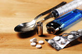 Drugs addiction — Stock Photo