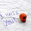 Stock Photo: Hate you