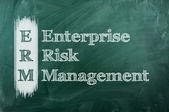ERM enterprise risk management — Stock Photo