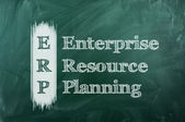 Erp enterprise resource planning — Stock Photo