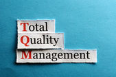 Tqm abbreviation — Stock Photo