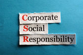 Csr abbreviation — Stock Photo