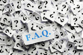 Questions FAQ  — Stock Photo