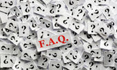 FAQ  question  — Stock Photo