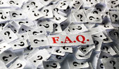 FAQ question marks  — Stock Photo