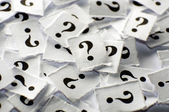 Question marks — Stock Photo