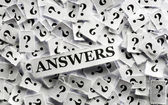 Answers on  question  — Stock Photo