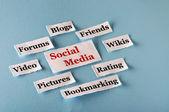 Social Media collage — 图库照片