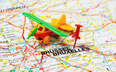 Bruxelles airplane — Stock Photo