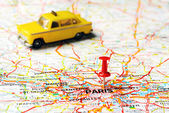 Paris France  taxi — Stock Photo