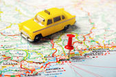 Nice , France  map taxi — Stock Photo