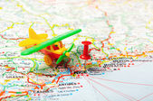 Nice , France  map aiport — Stock Photo