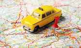 Basel ,Swiss map taxi — Stock Photo