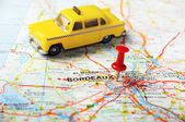 Bordeaux , France  map taxi — Stock Photo