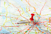 Bordeaux , France  map  — Stock Photo