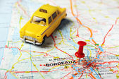 Borfeaux  , France  map taxi — Stock Photo