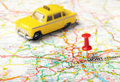 Clermont, France  map  taxi — Stock Photo
