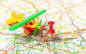 Clermont, aeropuerto de francia mapa — Foto de Stock