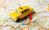Geneve,Swiss map taxi — Stock Photo