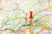 Geneve,Swiss map — Stock Photo