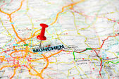Munchen ,Germany map — Stock Photo