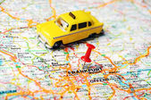 Frankfurt, Germany map taxi — Stock Photo