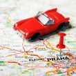 Prague, Czech Republic map auto — Stock Photo #49406351