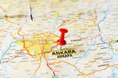 Ankara ,Turkey  map — Stock Photo