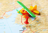 Van,Turkey  map airport — Stock Photo