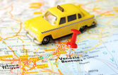 Venice  Italy map taxi — Stock Photo