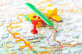 Udine  Italy map airport — Stok fotoğraf