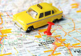 Vicenza Italy map taxi — Stock Photo