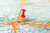 Bologna  Italy map — Stock Photo