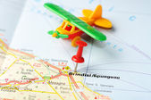 Brindisi  Italy map airplane — Foto de Stock