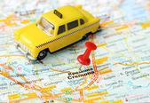 Kremona  Italy map taxi — Stock Photo