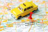 Piacenca  Italy map taxi — Стоковое фото