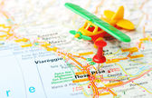 Pisa  Italy map airplane — Foto de Stock