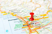 Pisa  Italy map — Stock Photo