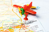 Ravenna  Italy map airplane — Foto de Stock