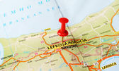 Nicosia Cyprus  map — Stock Photo