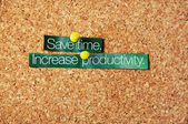 Save time ,increase productivity — Foto Stock
