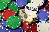 Dollar gambling — Stock Photo