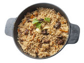 Pilau in the stew pan — Stock Photo
