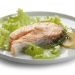 Steamed salmon — Stock Photo #16848841