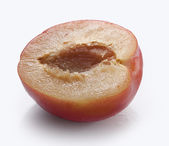 Half of plum — Stock Photo